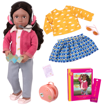 18-inch Posable Travel Doll Aryal