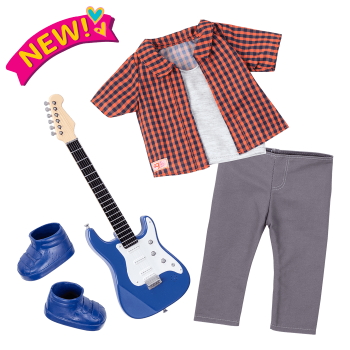 Plaid to Rock Outfit for 18-inch Dolls