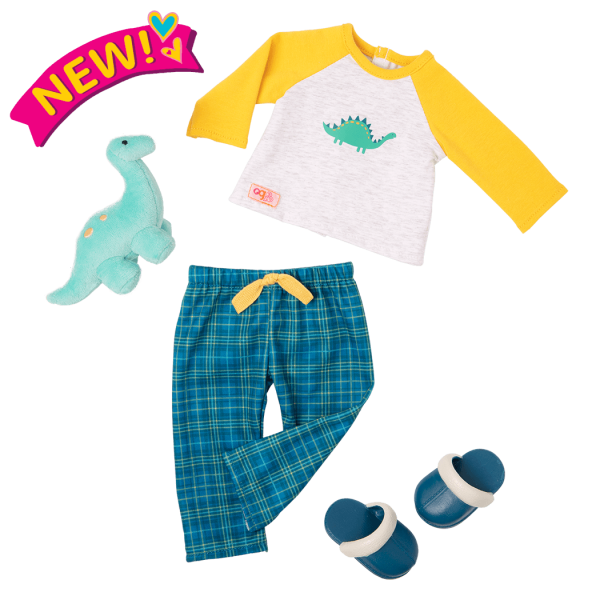 Dino-Snores Pajama Outfit for 18-inch Dolls
