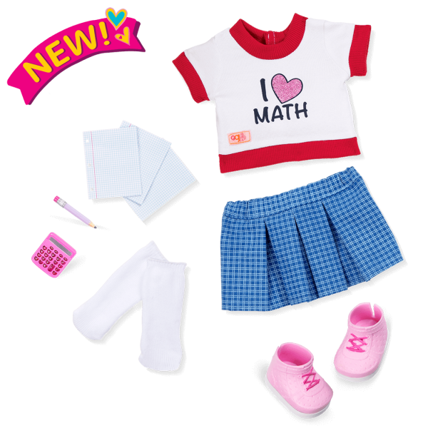 Perfect Math School Outfit for 18-inch Dolls
