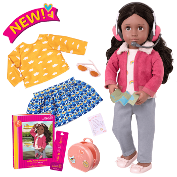 18-inch Posable Travel Doll Aryal