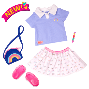 Rainbow Academy School Outfit for 18-inch Dolls