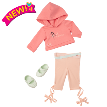 Studio Style Ballet Practice Outfit for 18-inch Dolls