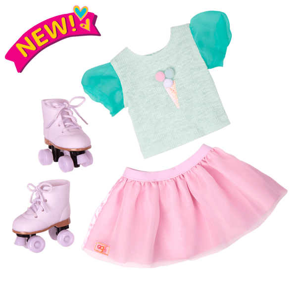Scoopalicious Ice Cream Outfit for 18-inch Dolls