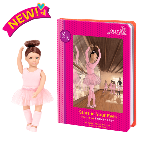 Read and Play Set 6-inch Mini Doll Sydney Lee