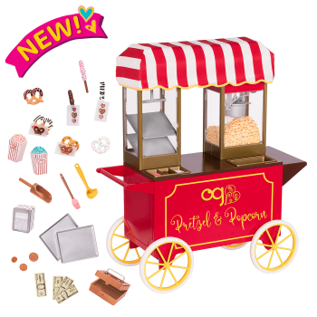Poppin' Plenty Snack Cart for 18-inch Dolls