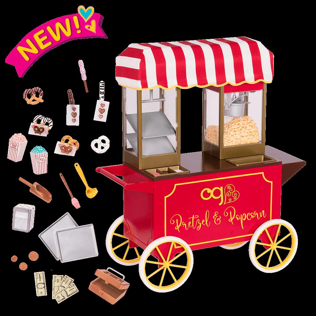 Poppin' Plenty Snack Cart for 18-inch Dolls