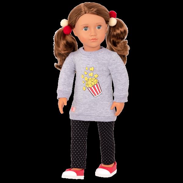 Pop-Pop Top Popcorn Sweater for 18-inch Dolls