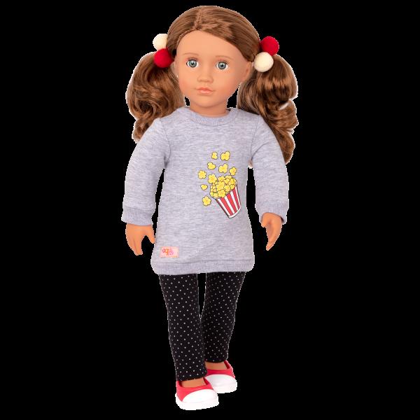Pop-Pop Top Popcorn Sweatshirt for 18-inch Dolls