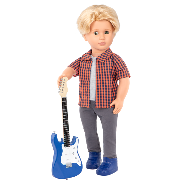 Plaid to Rock Outfit for 18-inch Boy Dolls