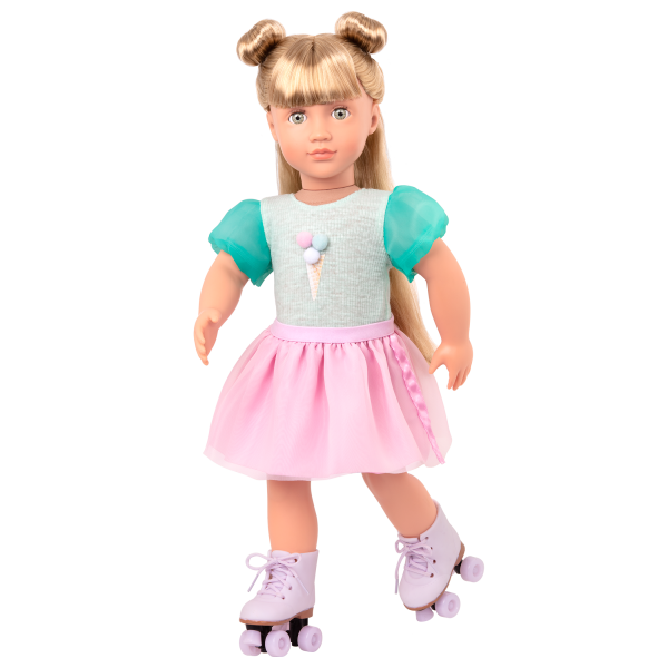 Scoopalicious Ice Cream Outfit Pink Skirt for 18-inch Dolls