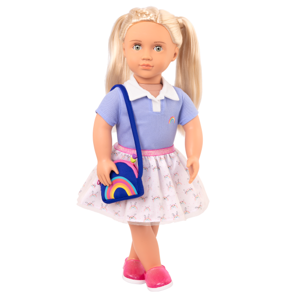 Rainbow Academy School Outfit Tulle Skirt for 18-inch Dolls