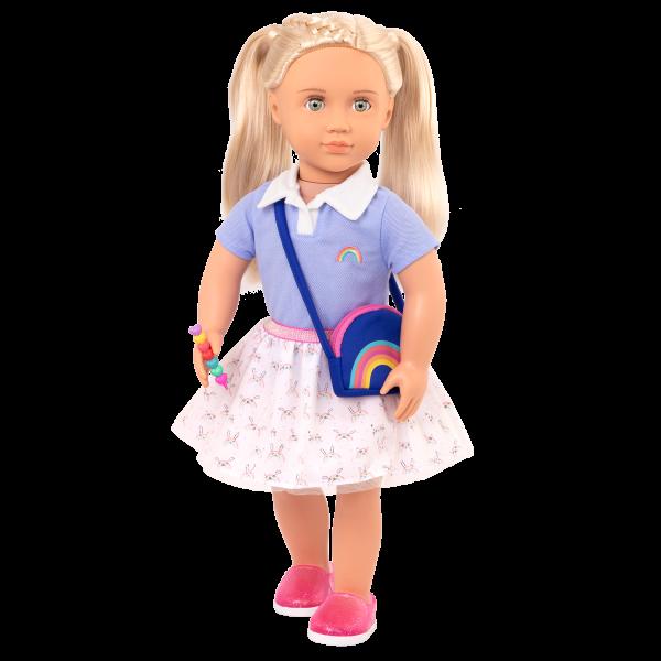 Rainbow Academy School Outfit Purse for 18-inch Dolls