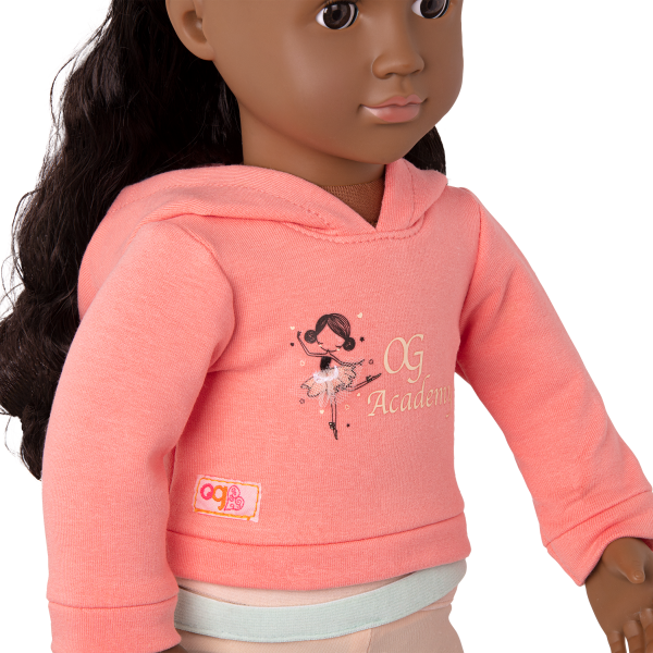 Studio Style Ballet Practice Outfit for 18-inch Dolls Ballet Academy