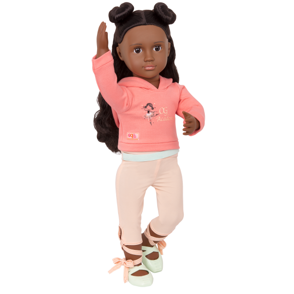 Studio Style Ballet Practice Hooded Sweater Outfit for 18-inch Dolls