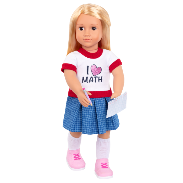 Perfect Math School Outfit Accessories for 18-inch Dolls