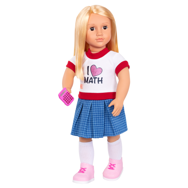 Perfect Math School Outfit Calculator for 18-inch Dolls
