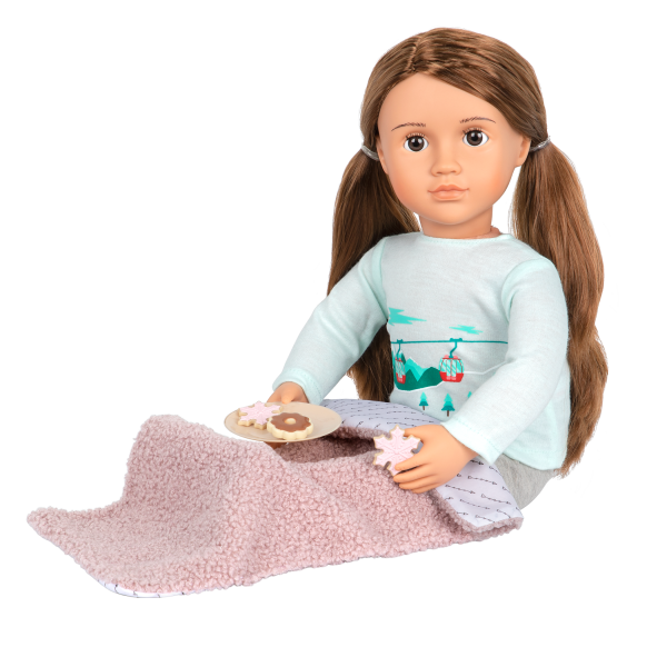 Posable 18-inch Doll Sandy Play Food Accessories