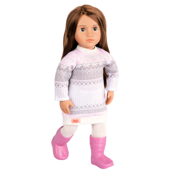 Posable 18-inch Doll Sandy Sweater Dress