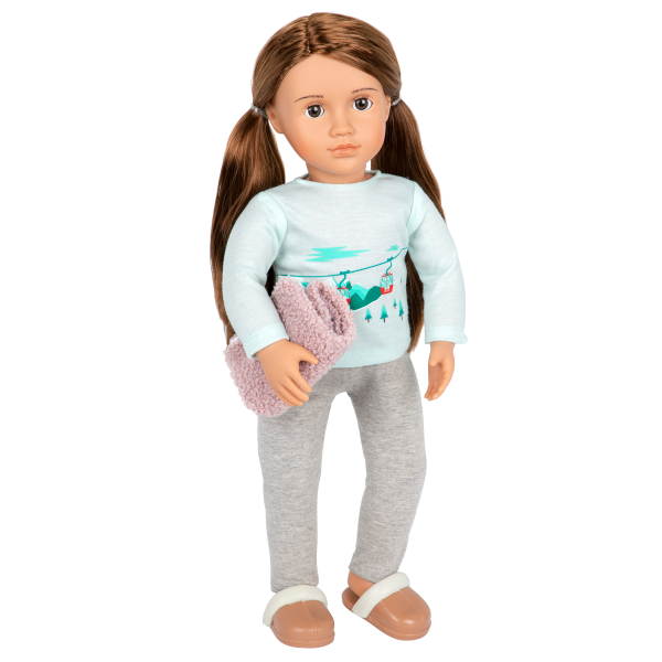 Posable 18-inch Doll Sandy Pajama Outfit