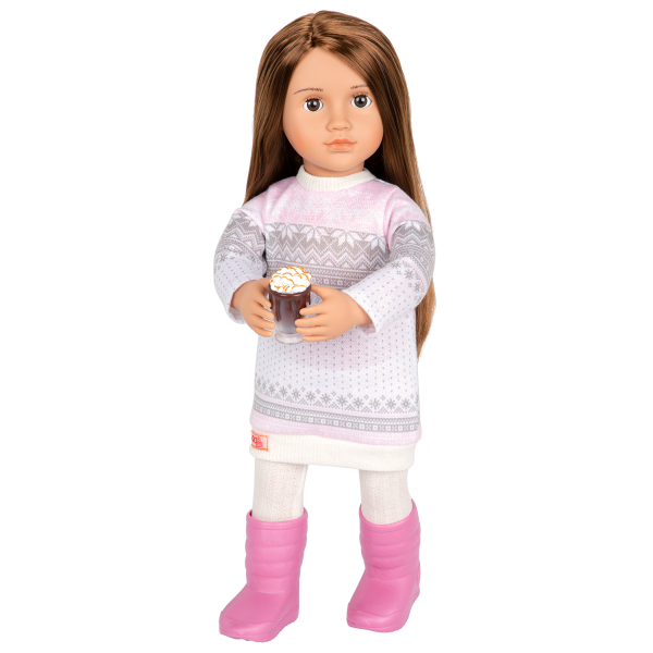 Posable 18-inch Doll Sandy Winter Outfit