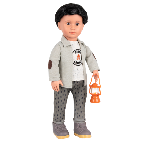 Campsite Delight Camping Outfit for 18-inch Boy Dolls