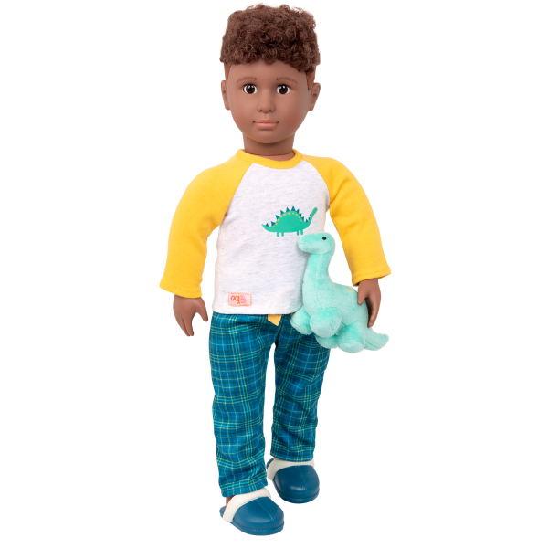 Dino-Snores Pajama Outfit Dinosaur Stuffed Animal for 18-inch Dolls