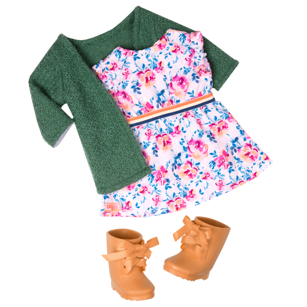 18-inch Gardening Doll Sage Outfit
