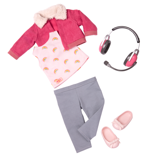 18-inch Posable Travel Doll Aryal Outfit