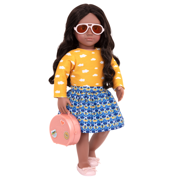 18-inch Posable Travel Doll Aryal Luggage