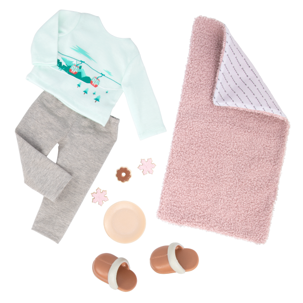 Posable 18-inch Doll Sandy Blanket and Slippers