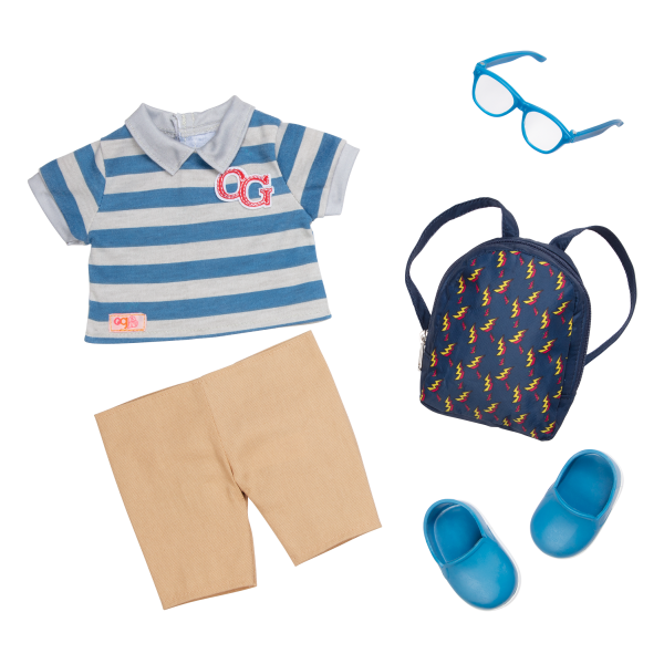 18-inch Boy Doll Leo School Outfit