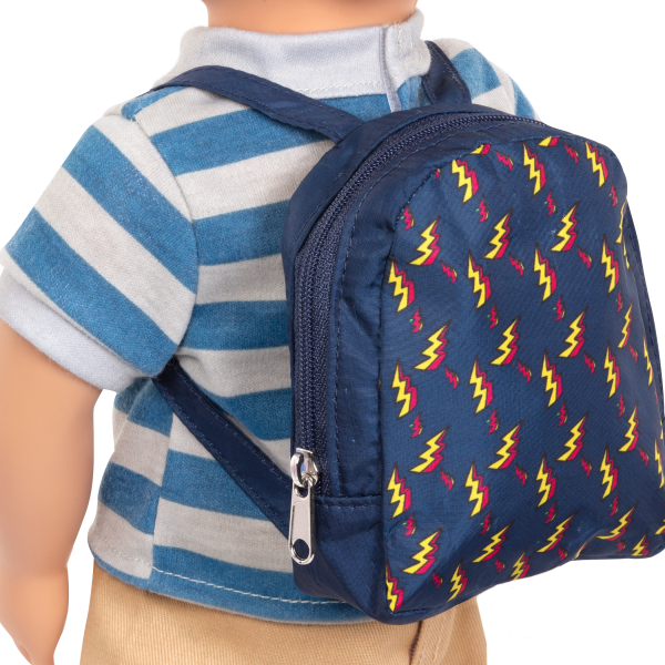 18-inch Boy Doll Leo School Bag