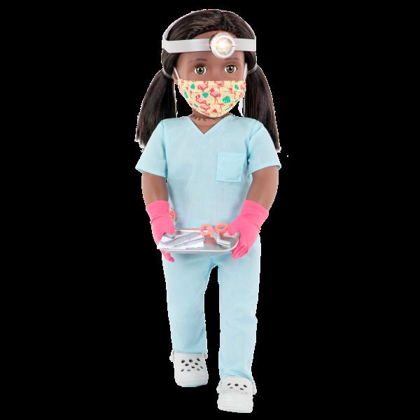 18-inch Doctor Doll Cierra Face Mask