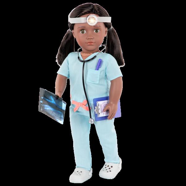 18-inch Doctor Doll Cierra Black Hair