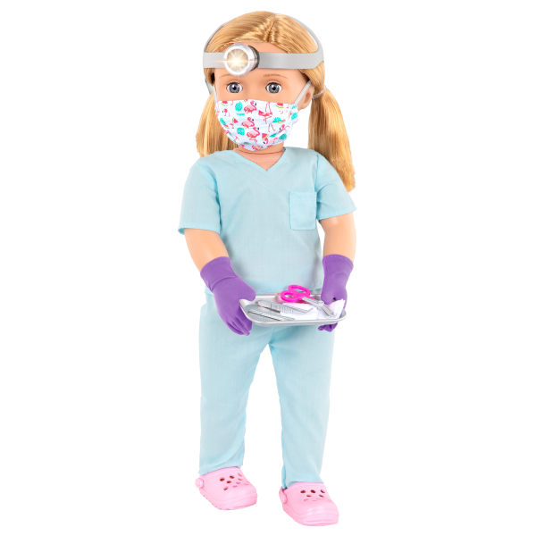 18-inch Doctor Doll Tonia Face Mask