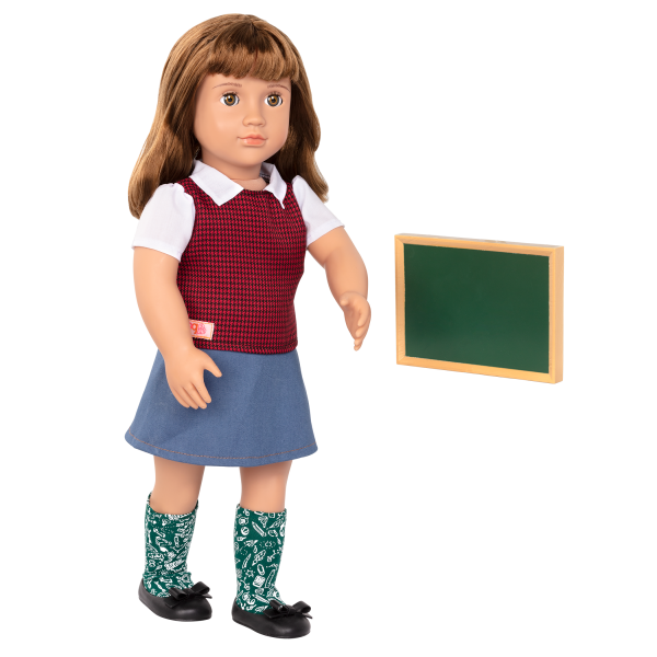 18-inch School Teacher Doll Taylor Chalkboard Accessory