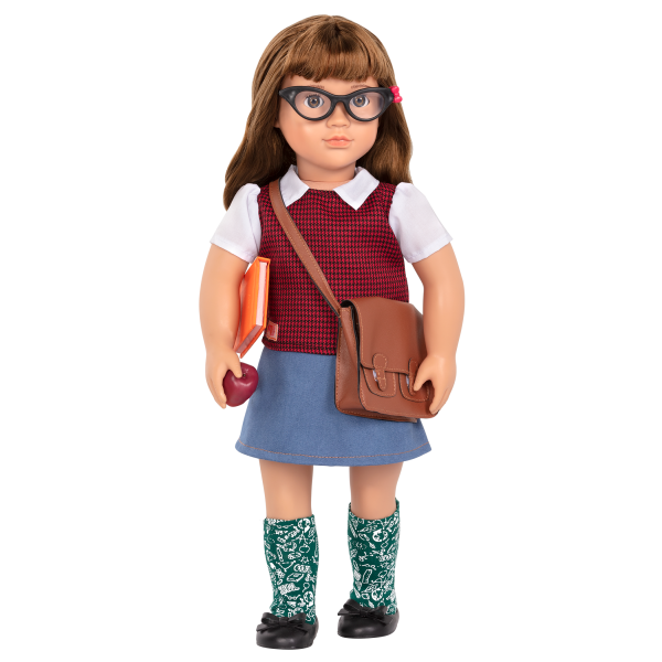 18-inch School Teacher Doll Taylor Brown Hair