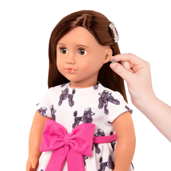 18-inch Jewelry Doll Nancy Pierced Ears Earrings