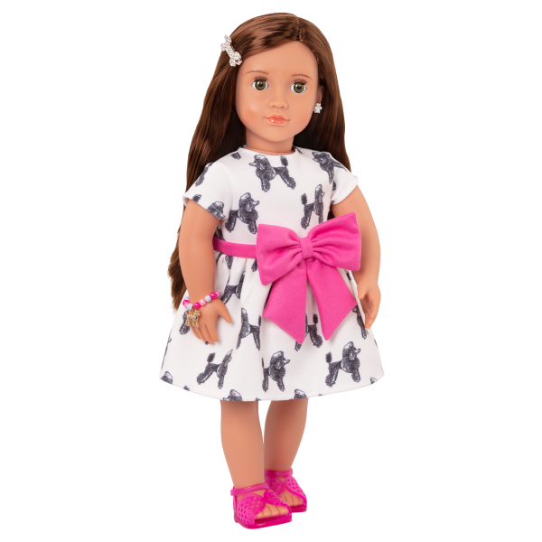 18-inch Jewelry Doll Nancy Brown Hair