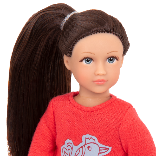 Read and Play Set 6-inch Mini Doll Willow Brown Hair