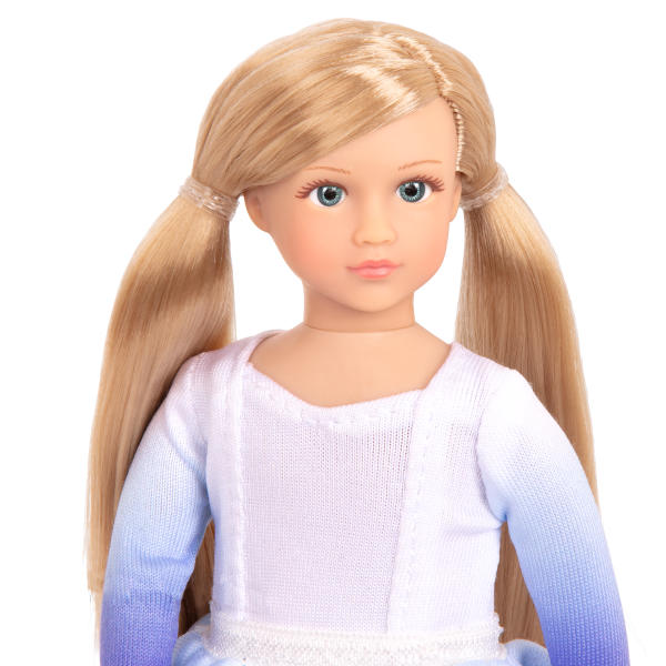 Read and Play Set 6-inch Mini Doll Katelyn Blonde Hair