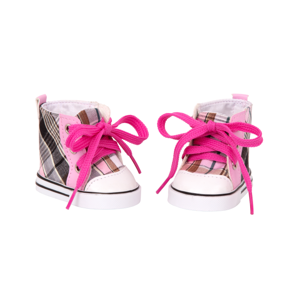 Plaid All Over Shoes for 18-inch Dolls