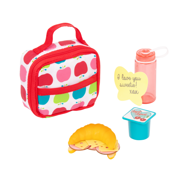 Let's Do Lunch School Bag Play Food Set for 18-inch Dolls