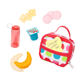 Let's Do Lunch School Bag Set for 18-inch Dolls