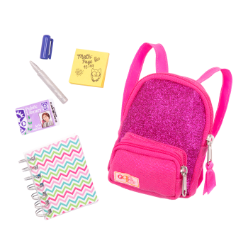 School Smarts Backpack Set for 18-inch Dolls