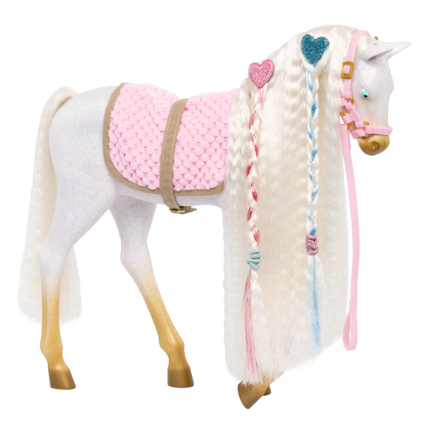 12-inch Andalusian Hair Play Horse Foal White