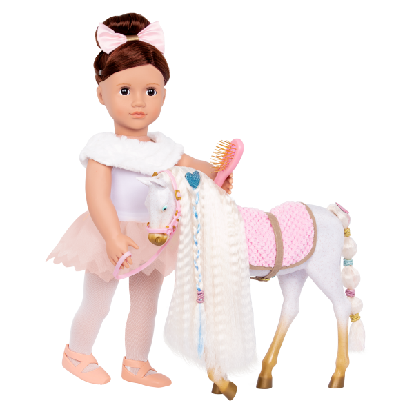 12-inch Andalusian Hair Play Horse Foal 18-inch Dolls