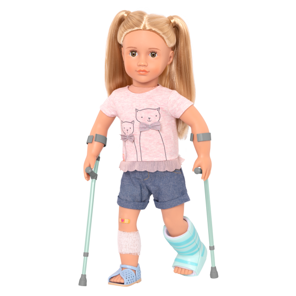 Recovery Ready Crutches and Cast Set for 18-inch Dolls