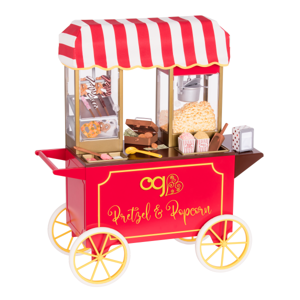 Poppin' Plenty Retro Snack Cart for 18-inch Dolls